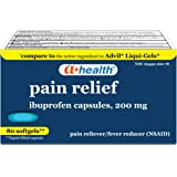 A+ Health Ibuprofen 200 Mg Softgels, Pain Reliever/Fever Reducer (NSAID), Made in USA, 80 Count