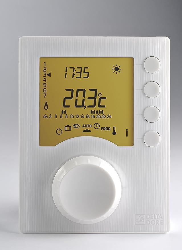 Delta Dore TYBOX 117 6053005 - Termostato programable con 2 niveles de consigna: Amazon.es: Bricolaje y herramientas
