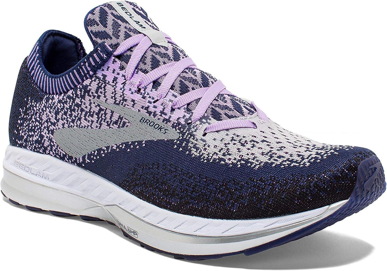 Brooks Women's Bedlam, Purple/Navy/Grey