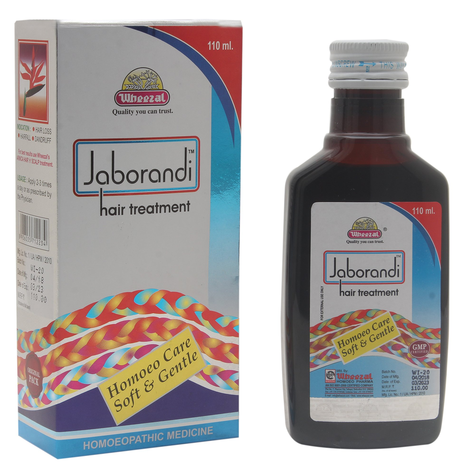 WHEEZAL JABORANDI HAIR TREATMENT OIL 110 ML