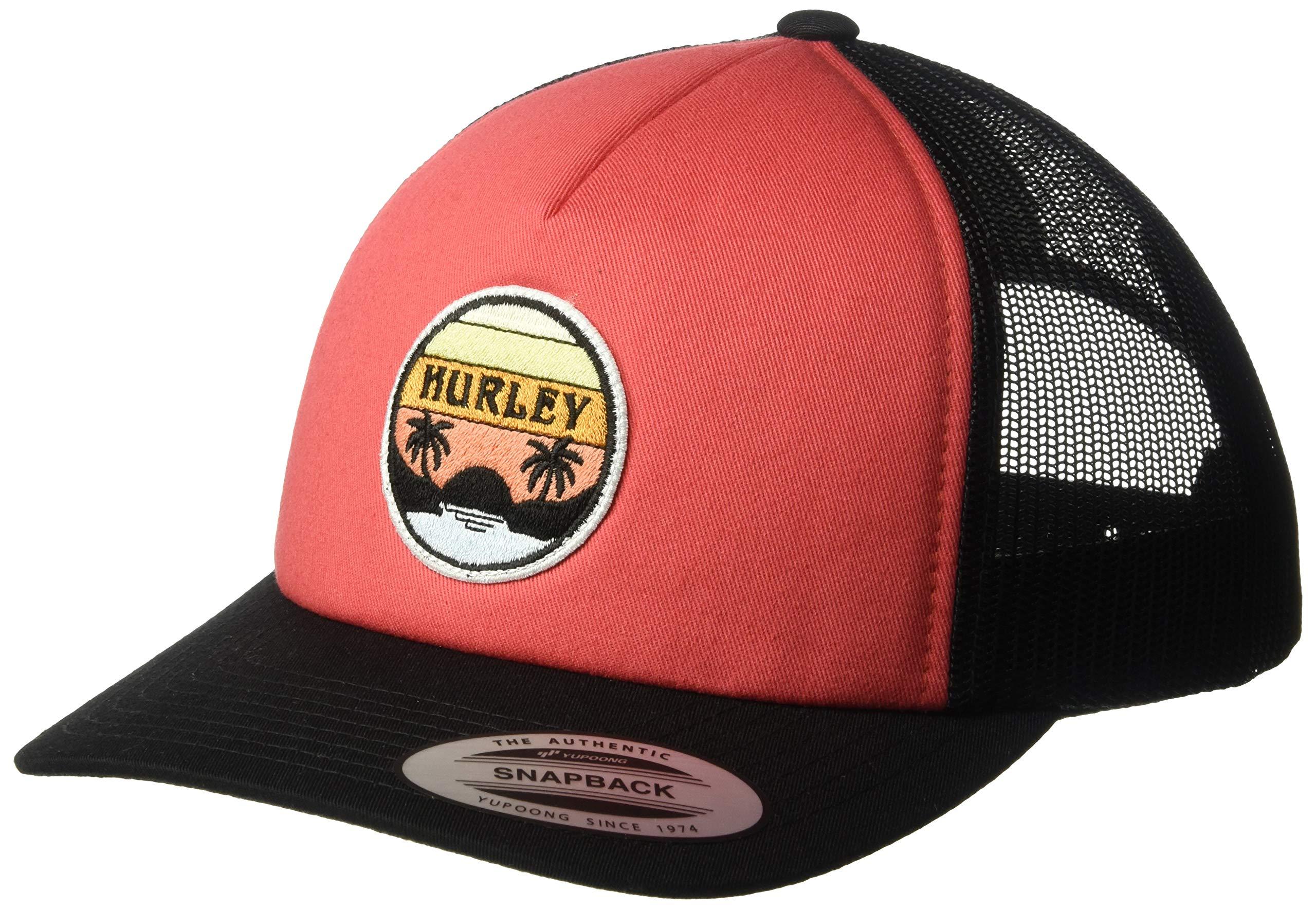 Hurley Women's Apparel Women's Retro Trucker Hat, Firewood Orange, One Size Fits All