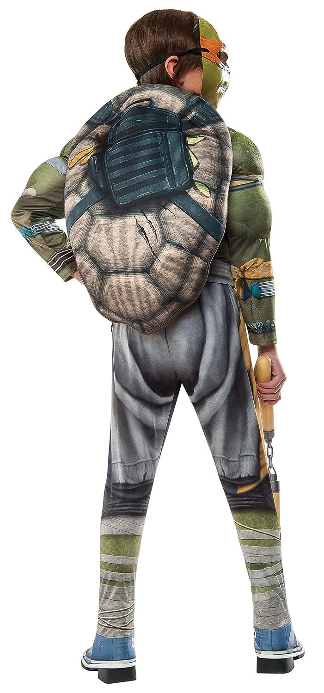 Large Rubies Domestic 620823/_L Rubies Costume Kids Teenage Mutant Ninja Turtles 2 Deluxe Michelangelo Costume