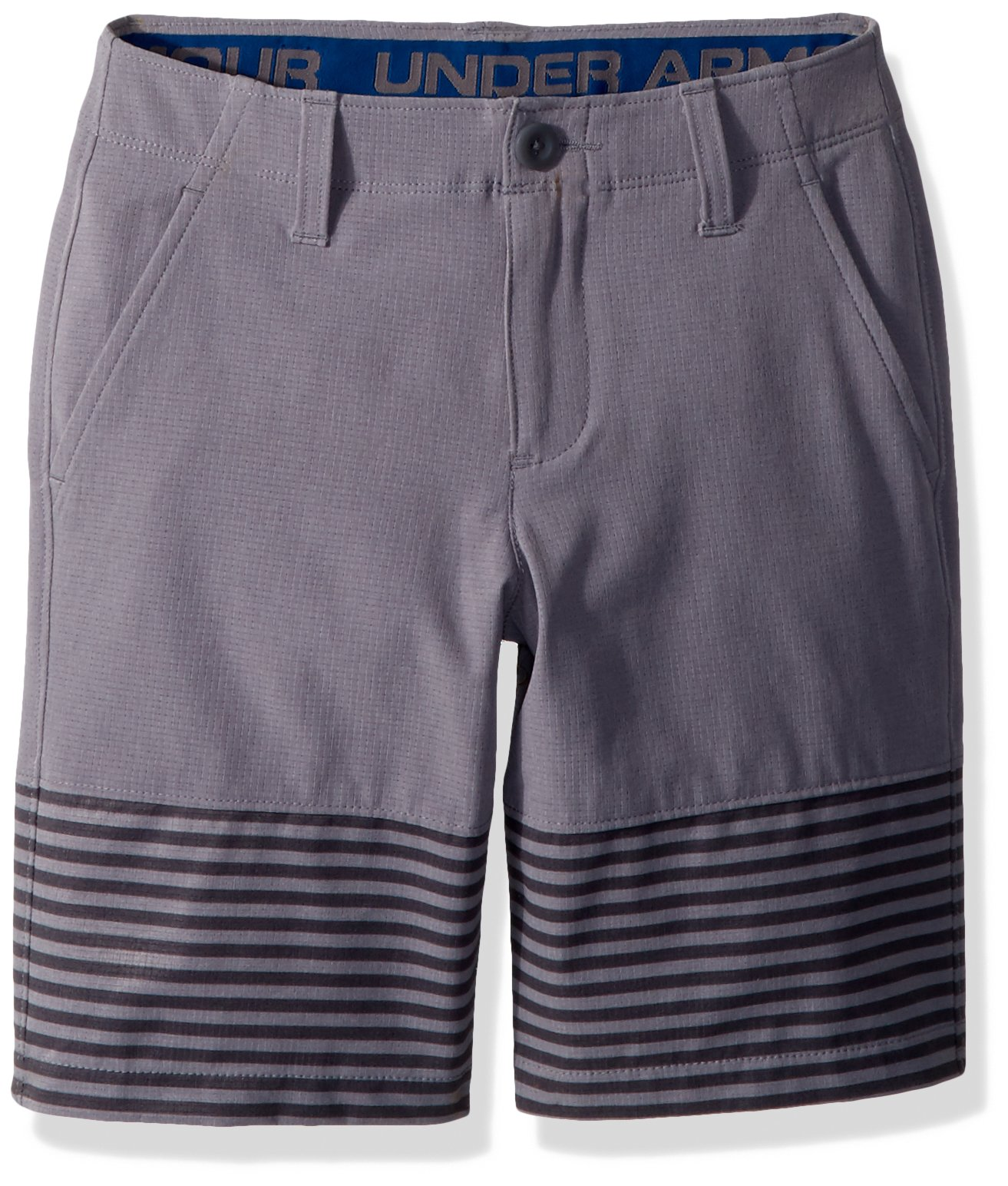Under Armour Boys' Match Play Vented Shorts, Zinc Gray (513)/Zinc Gray, 18 by Under Armour