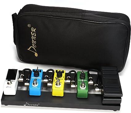 Donner Db de 1 guitarra – Pedalera con funda aluminio Pedales de ...