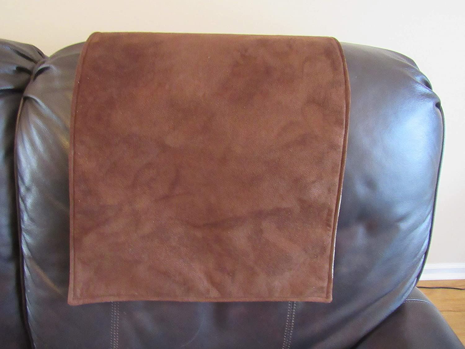 Microfiber Head rest cover, furniture protector 17x27 BROWN- Furniture, Recliners, sofas, Loveseats, slipcovers By Bittlemen Co.