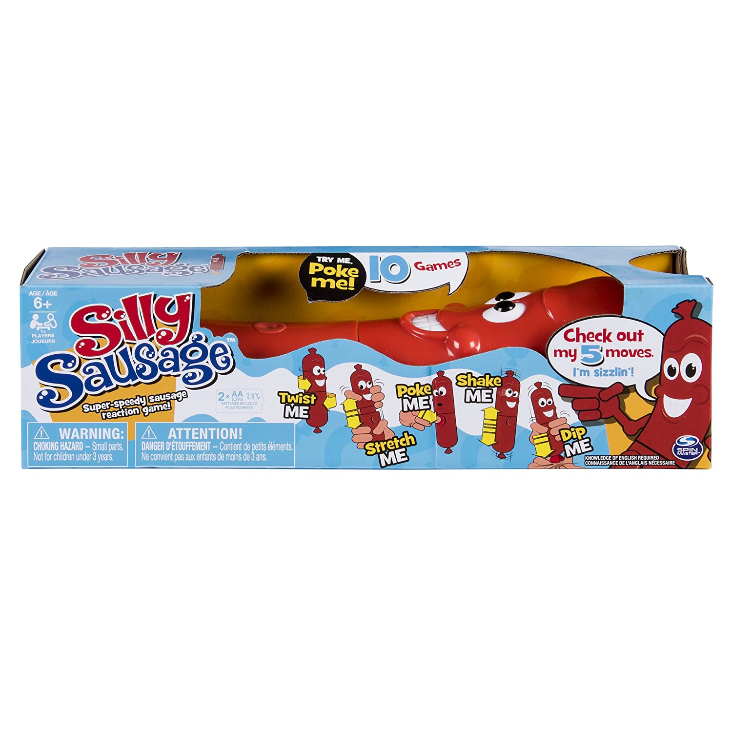 Spin Master Games Silly Sausage-Interactive Kids' Game with Sound and Button 6045887