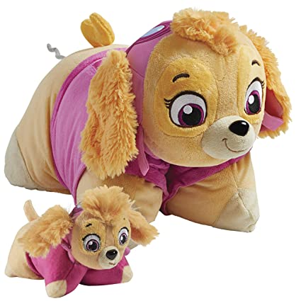 Amazon.com: Pillow Pets Nickelodeon Paw Patrol Skye Set, 16 ...
