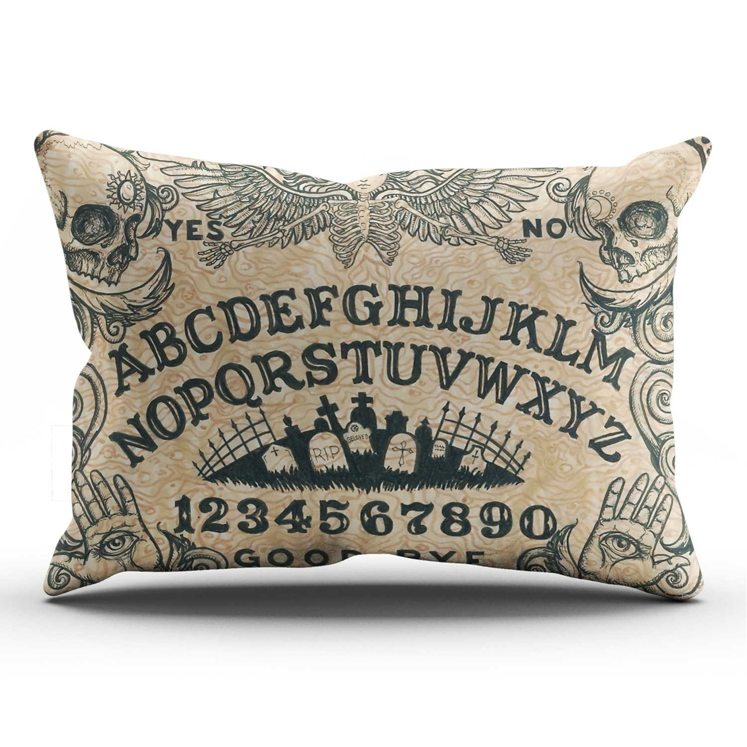 KEIBIKE Personalized Ouija Board Horror Movie Rectangle Decorative Pillowcases Funny Zippered King Pillow Covers Cases 20x36 Inches One Sided by KEIBIKE