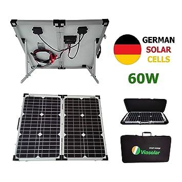 VIASOLAR Kit Panel Solar portátil 60W 12V células alemanas