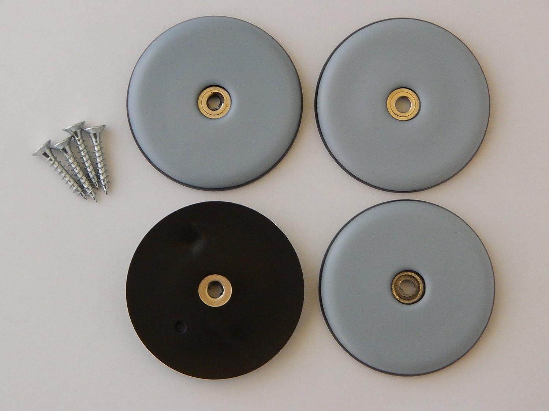 DFM - Protectores de tefló n para muebles (4 unidades, 50 mm de diá metro, con tornillos) 50 mm de diámetro