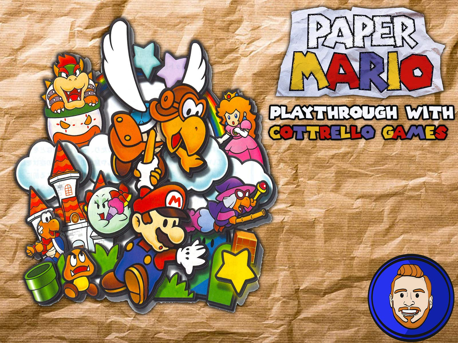 Paper Mario Playthrough with Cottrello Games