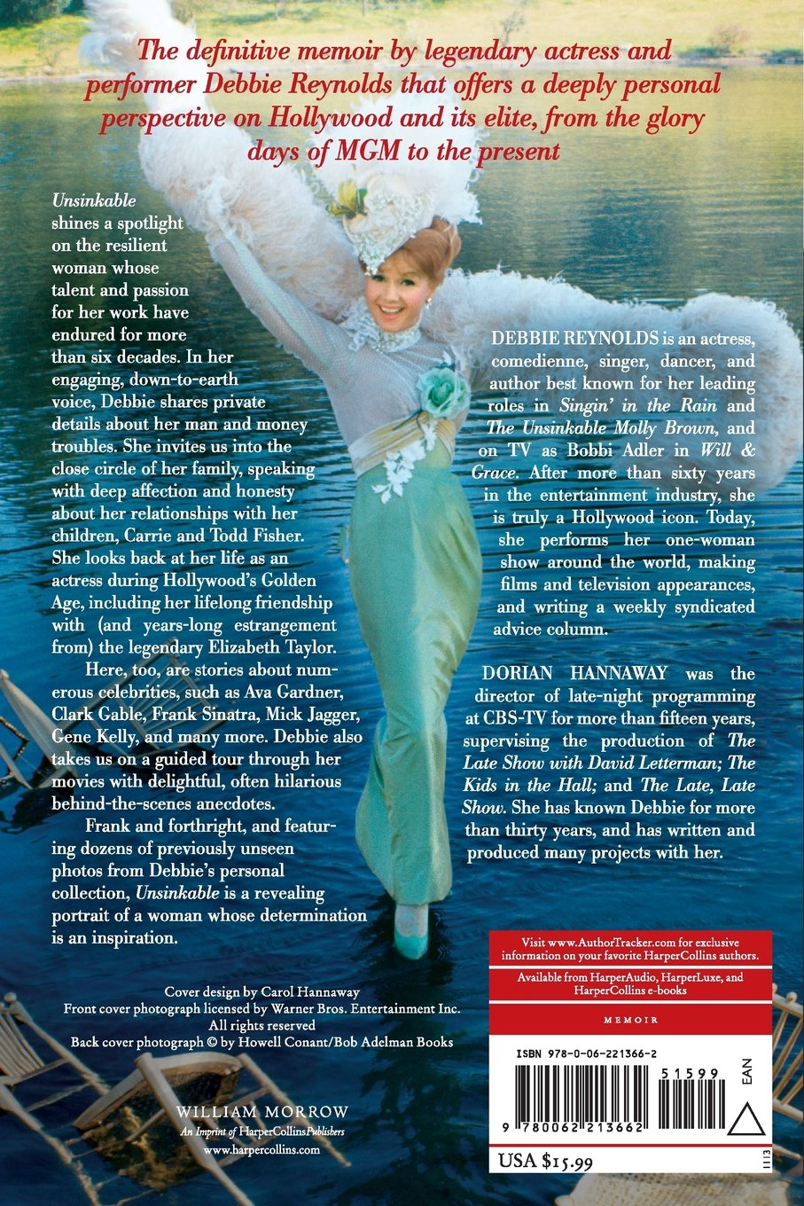 Unsinkable: A Memoir: Debbie Reynolds, Dorian Hannaway: 9780062213662:  Amazon: Books