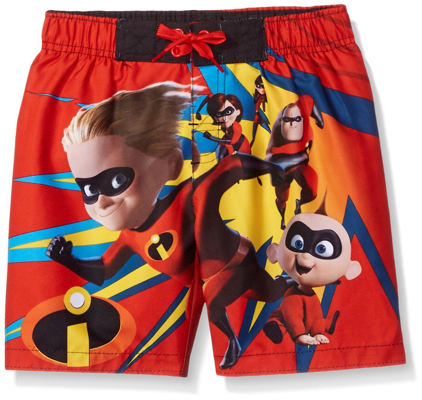 Disney Big Boys' Incredibles Swim Trunk, Candy, 5/6