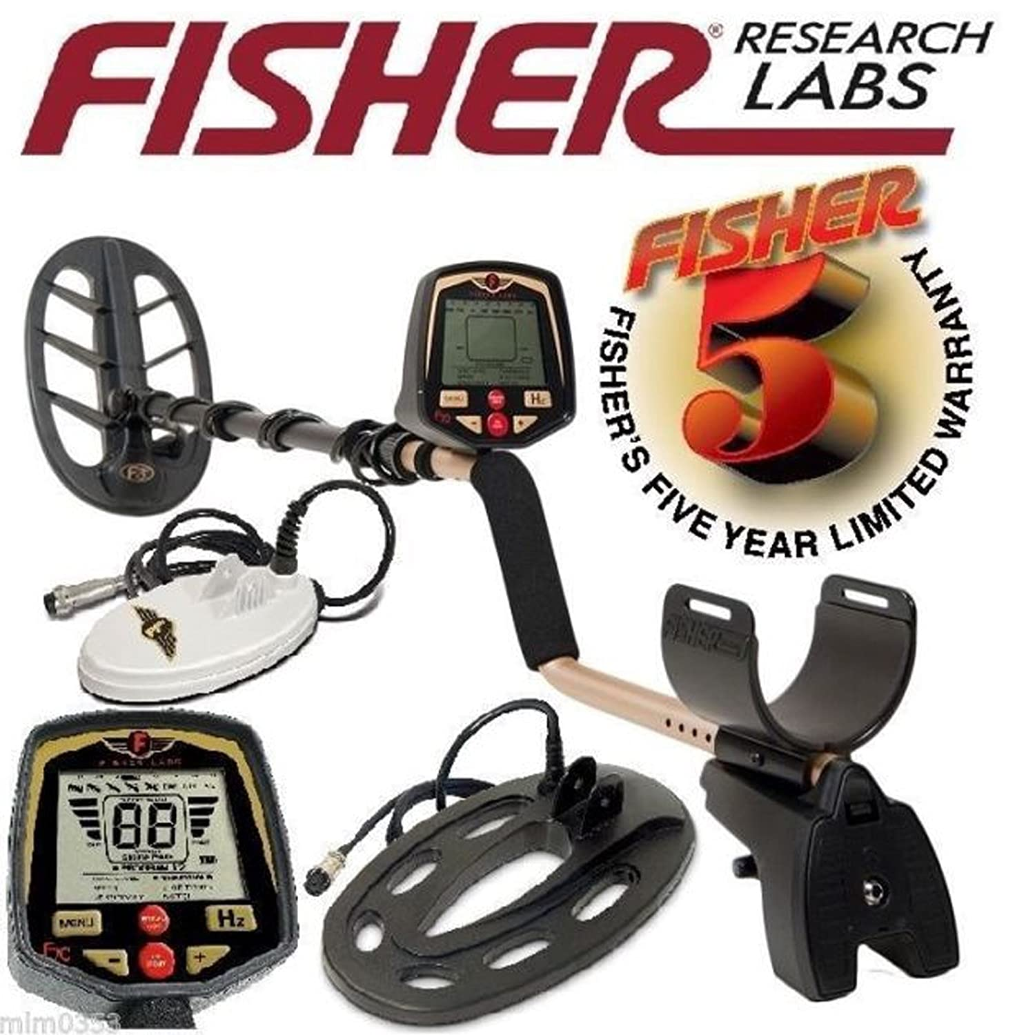 Amazon.com : Fisher F70 Multi-Purpose Metal Detector with 11 inch DD Bi-Axial Coil Upgrade : Garden & Outdoor