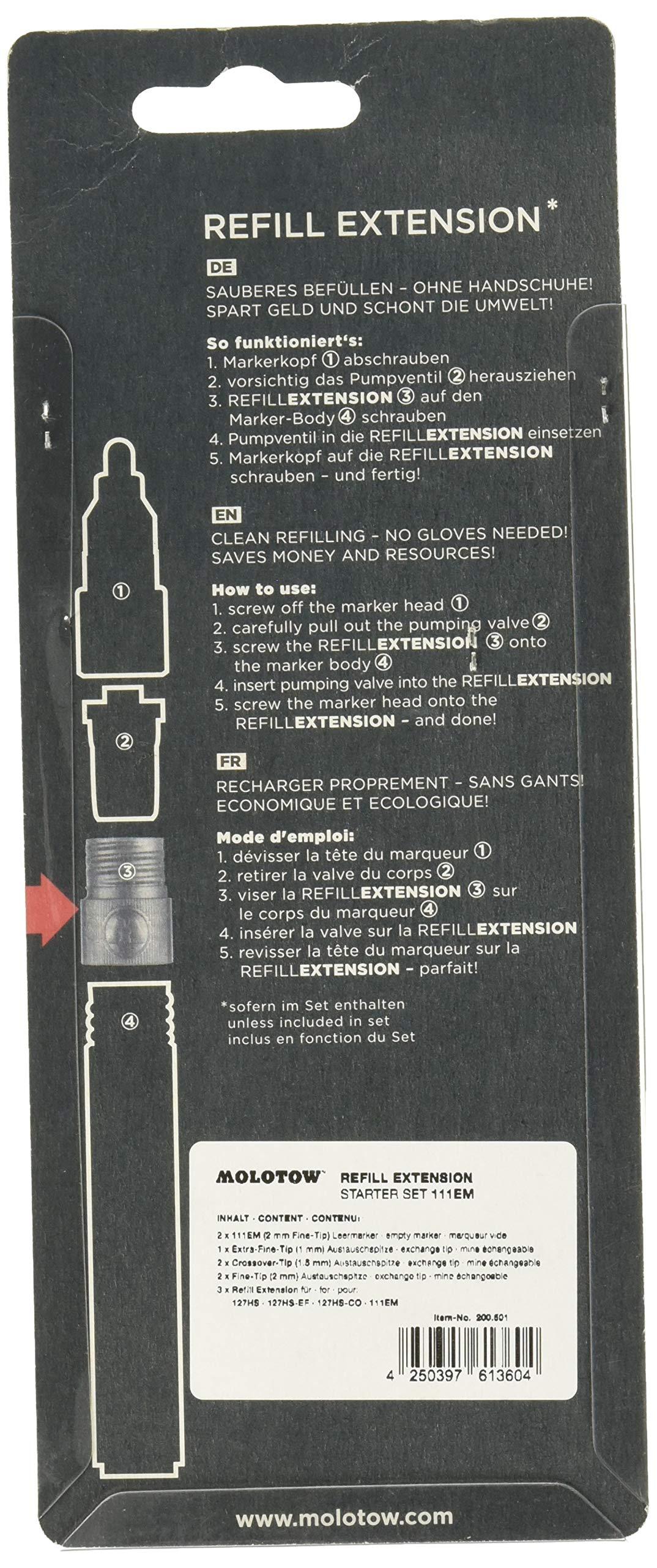 Molotow 200501 Starter Set Refill Extension 111EM