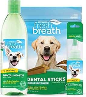 product image for Fresh Breath by TropiClean No Brushing Starter Kit with Dental Sticks