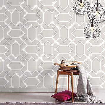 Roommates Light Gray Modern Geometric Peel And Stick Wallpaper Amazon Com