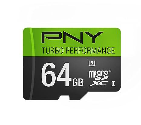 PNY 64GB MicroSD Memoria Flash MicroSDXC Clase 10 - Tarjeta ...
