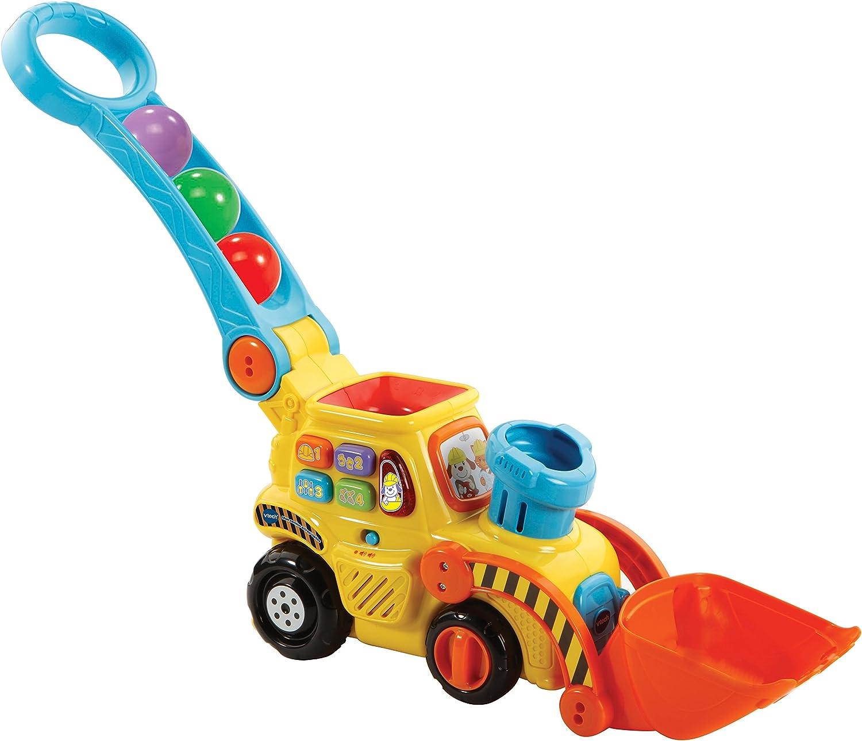 VTech Excavadora bebé interactiva expulsa y Recoge Las Bolas para Aprender los de Colores (3480-506022)
