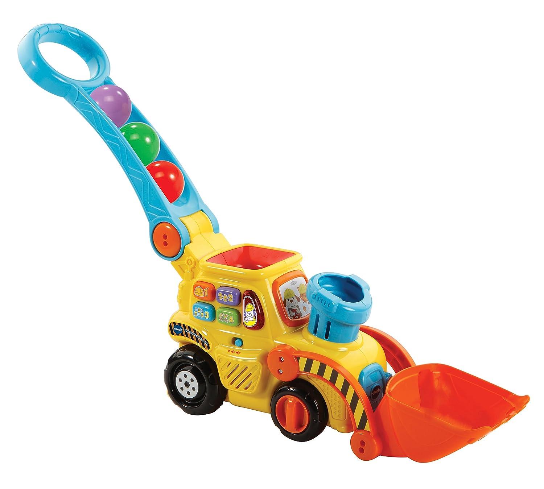 VTech- Excavadora bebé interactiva expulsa y Recoge Las Bolas para Aprender los de Colores (3480-506022)