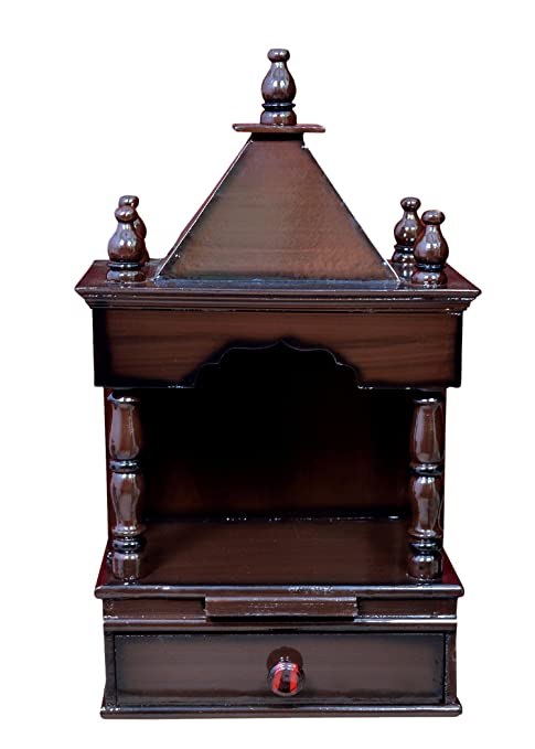 Buy Jaipur Handicrafts Wooden Temple For Home 30x20x58cm Brown
