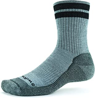 product image for Swiftwick- PURSUIT HIKE SIX MD Hiking Socks, Cushioned Merino Wool, Mens and Womens
