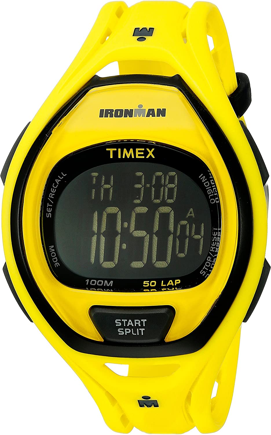Timex Full-Size Ironman Sleek 50 Resin Strap Watch Neon Yellow