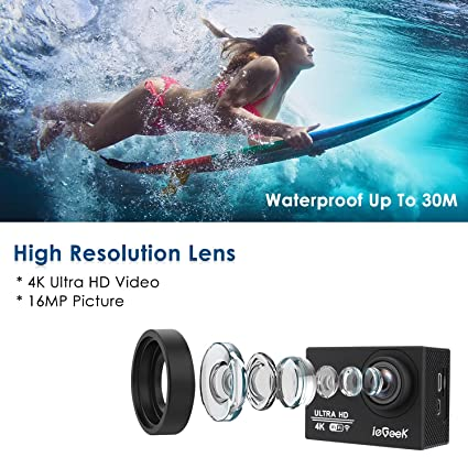 Amazon com: hellowland ieGeek HD 1080P 30fps 12 Mega Pixels