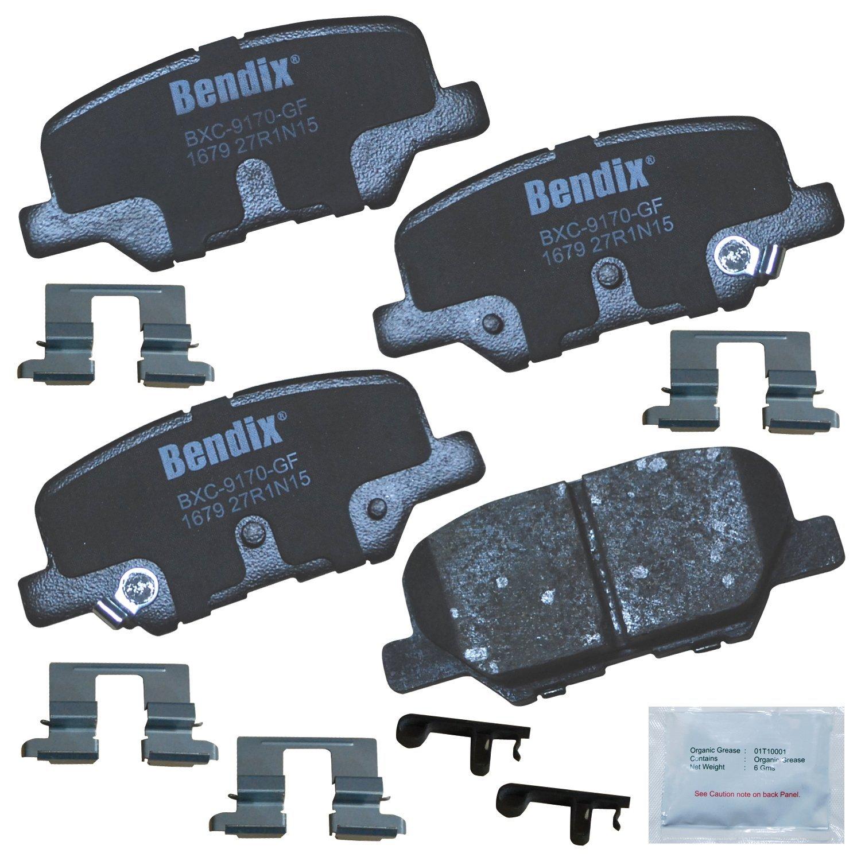 with Installation Hardware Rear Bendix Premium Copper Free CFC1679 Premium Copper Free Ceramic Brake Pad