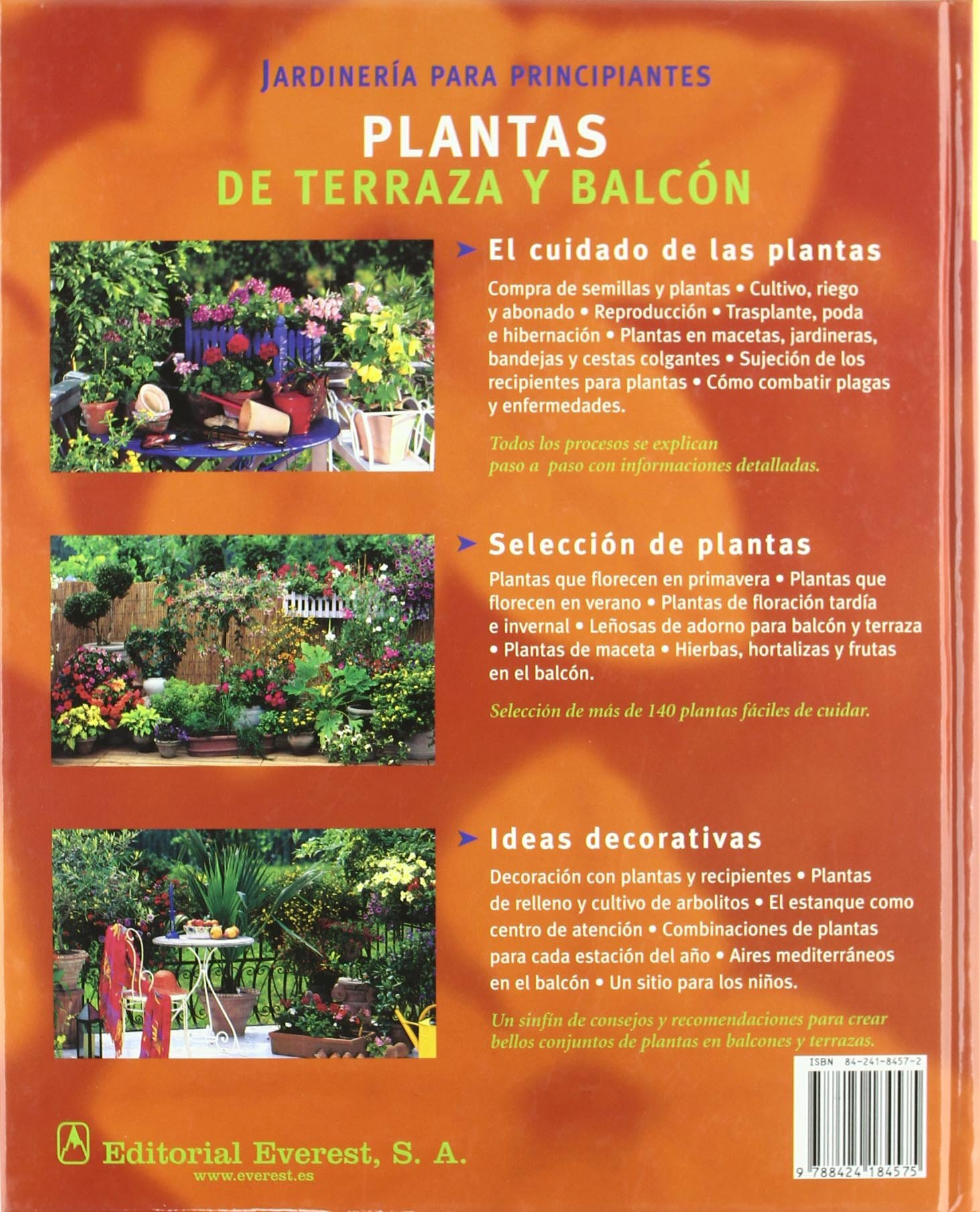 Plantas de Terraza y Balcon (Spanish Edition): Joachim Mayer, Friedrich Strauss: 9788424184575: Amazon.com: Books