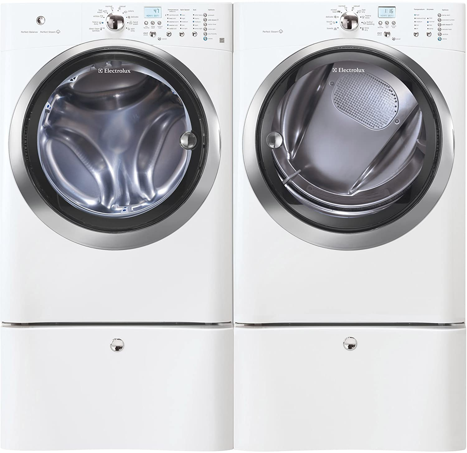 appliances pedestal washers luxury drawers dryers open zm electrolux drawer qv touch featuring glide