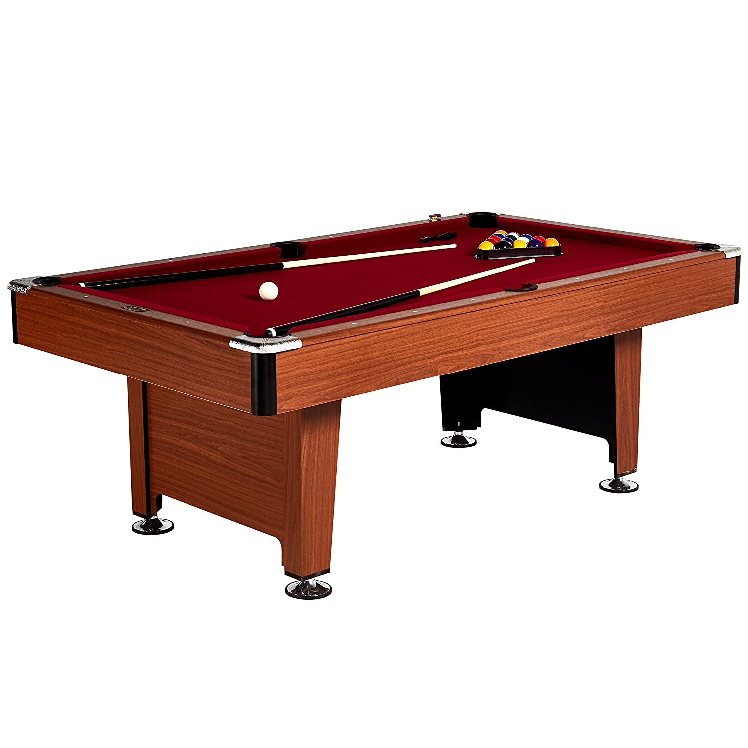 Brush and Chalk Balls Barrington Hawthorne 100 Billiard Table Set with Cues 23 Pieces Rack