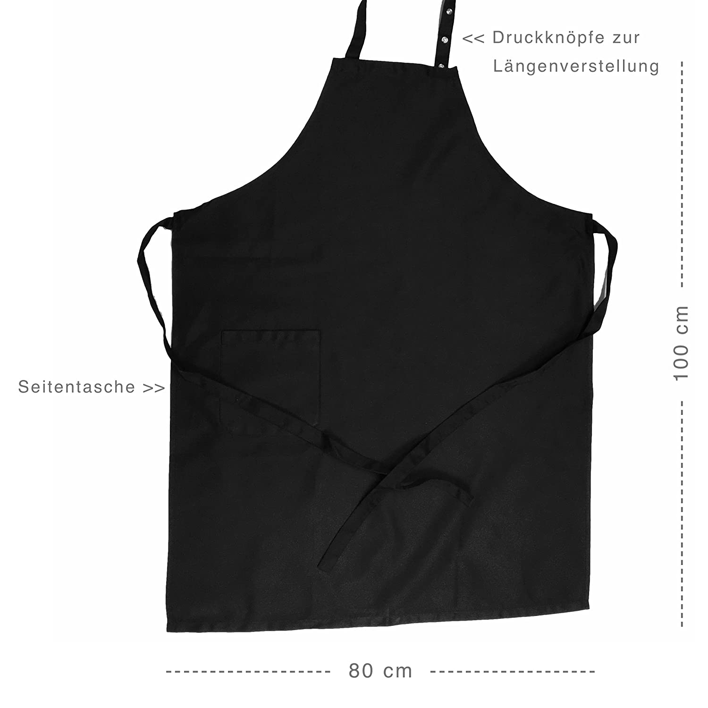 Grillschürze Mr Kochschürze Latzschürze mit verstellbarem Nackenband und Seitentasche Grillschürze Grillkönig® Good Looking is Cooking