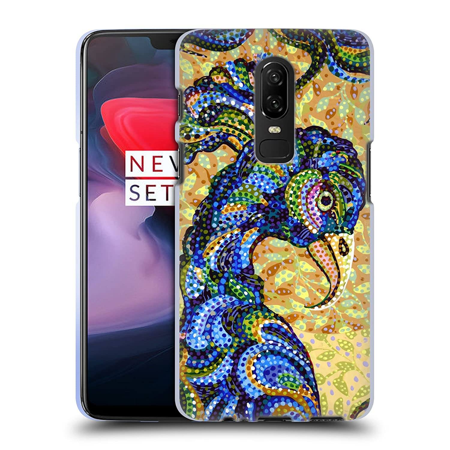 Amazon Official Erika Pochybova Parrot Birds Soft Gel Case For OnePlus 6 Cell Phones Accessories