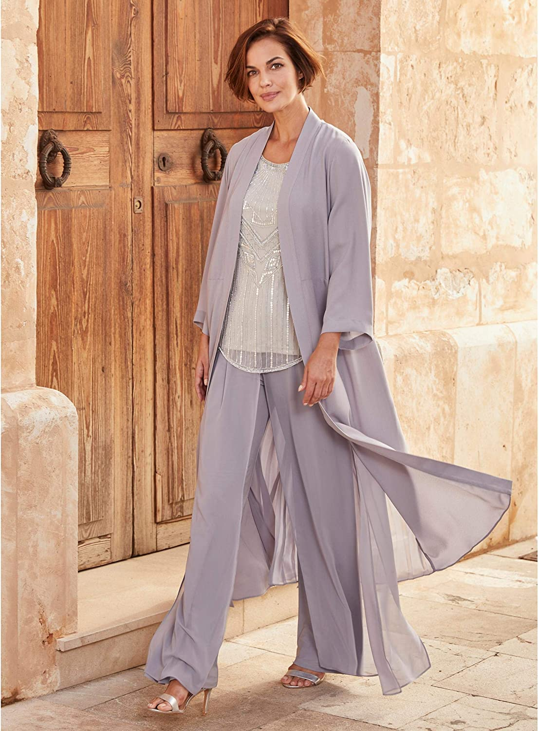 Did Women Wear Pants in the 1920s? Yes! sort of… JD WILLIAMS Womens Joanna Hope Overlay Palazzo Trousers £22.00 AT vintagedancer.com