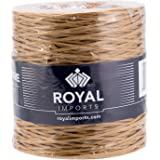 Natural Floral Bind Wire Wrap, Paper Covered Waterproof Rustic Vine for Flower Bouquets 26 Gauge (673 Ft) by Royal Imports