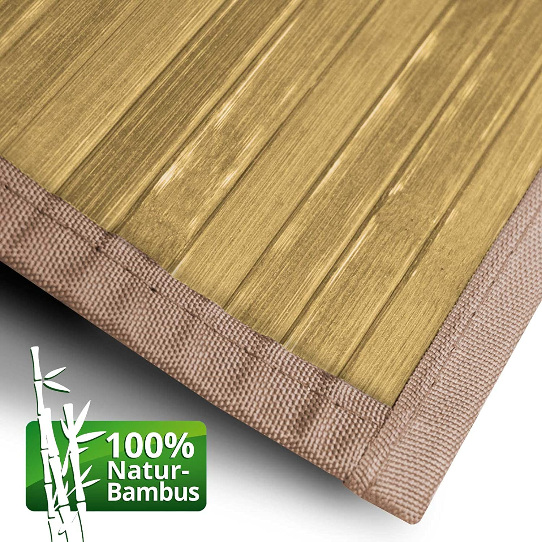 Casa pura Bambusteppich Tibet (Natur)   für Bad und und und Wohnzimmer   natürlich wohnen Bambus   Bambusmatte in vielen Größen (200x300 cm) B01M8G48HX Teppiche 0fc7f9