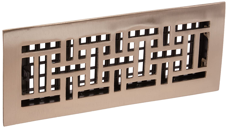 Decor rejillas cm por 30,5 cm Oriental piso registro, AJ412-NKL 5cm Oriental piso registro Decor Grates (Import)