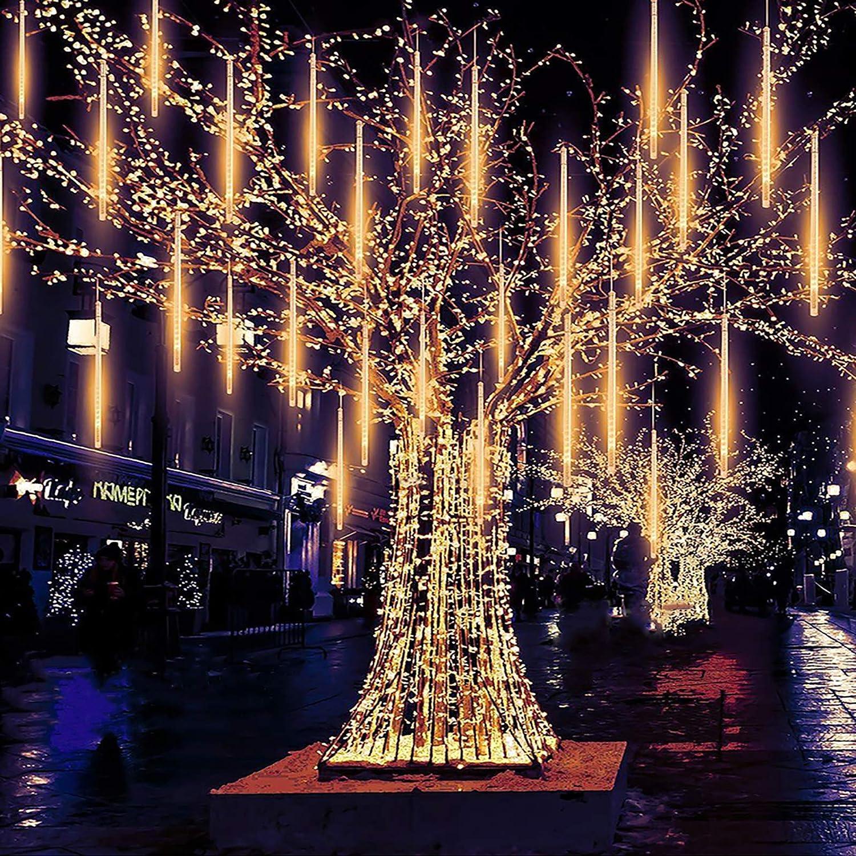 30CM 50CM LED Lights Meteor Shower Rain 8 Tube Tree Outdoor Light Xmas Decor USA