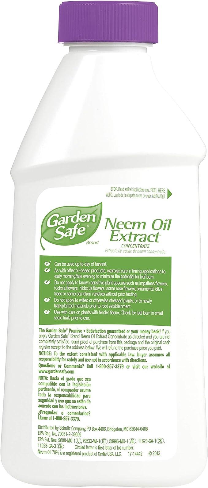 Amazon Com Garden Safe Hg 83179 Neem Oil Extract Concentrate 16 Fl Oz Pack Of 6 Garden Outdoor