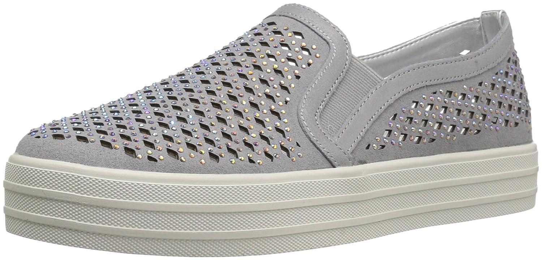 Skechers Street Women's Double up-Diamond Girl Fashion Sneaker B06XTJWC4X 7 B(M) US|Silver