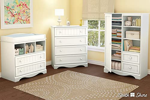 South Shore Andover 4-Drawer Chest Finish Pure White