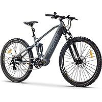 "Moma Bikes Bicicleta Eléctrica E-MTB 29"" Full Suspension, Shimano 24vel, frenos hidráulicos, batería Litio 48V 13Ah…"