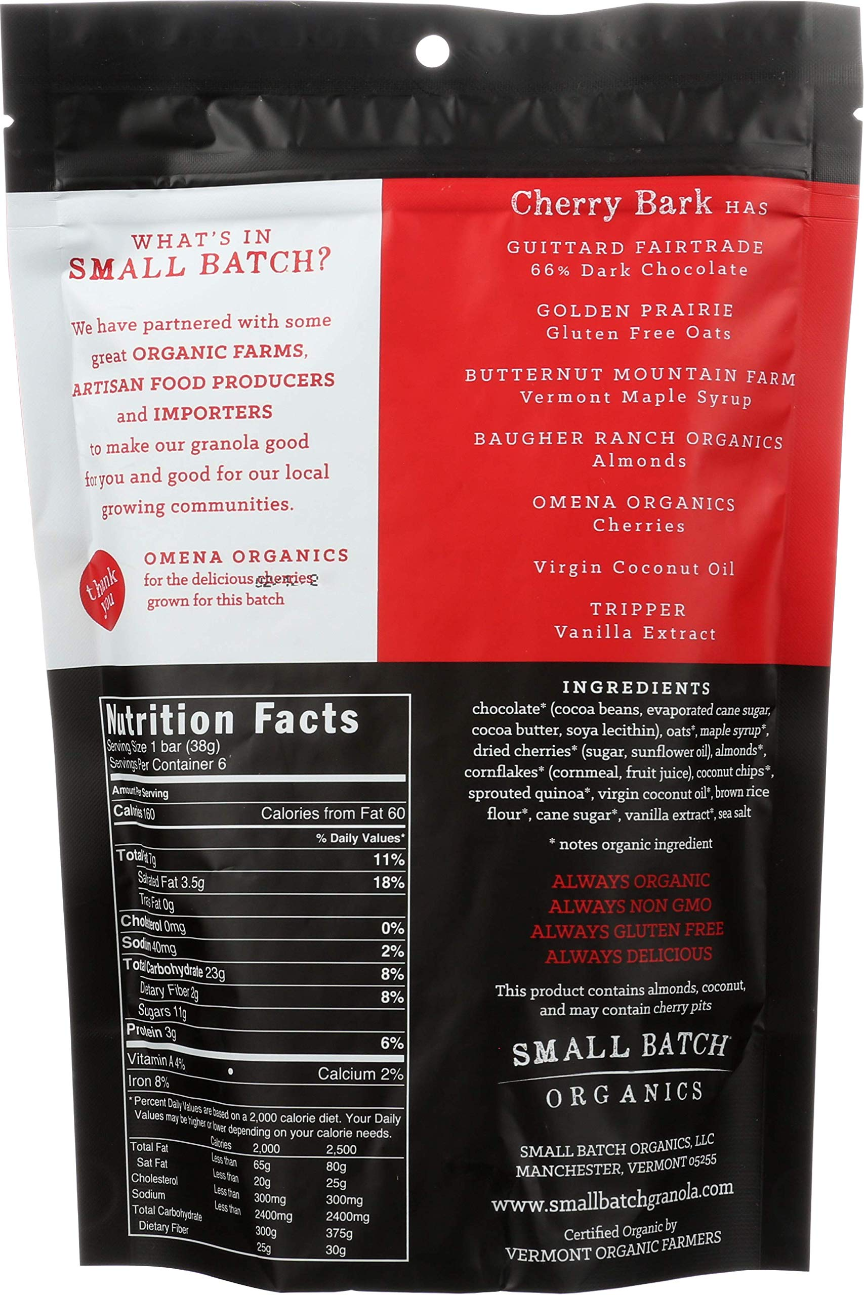SMALL BATCH ORGANICS Organic Cherry Bark Granola, 8 OZ by Small Batch Organics (Image #2)