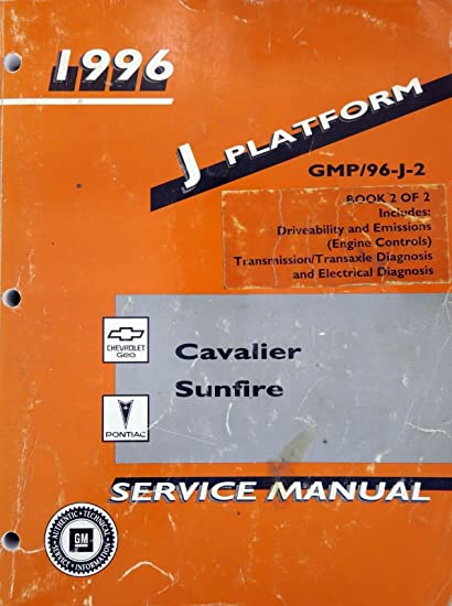 amazon com 1996 chevrolet cavalier pontiac sunfire j platform rh amazon com 96 Cavalier Head Gasket 99 Chevy Cavalier