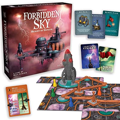 Forbidden Sky – The Cooperative Strategy Survival Rocket Building Board Game: Toys & Games