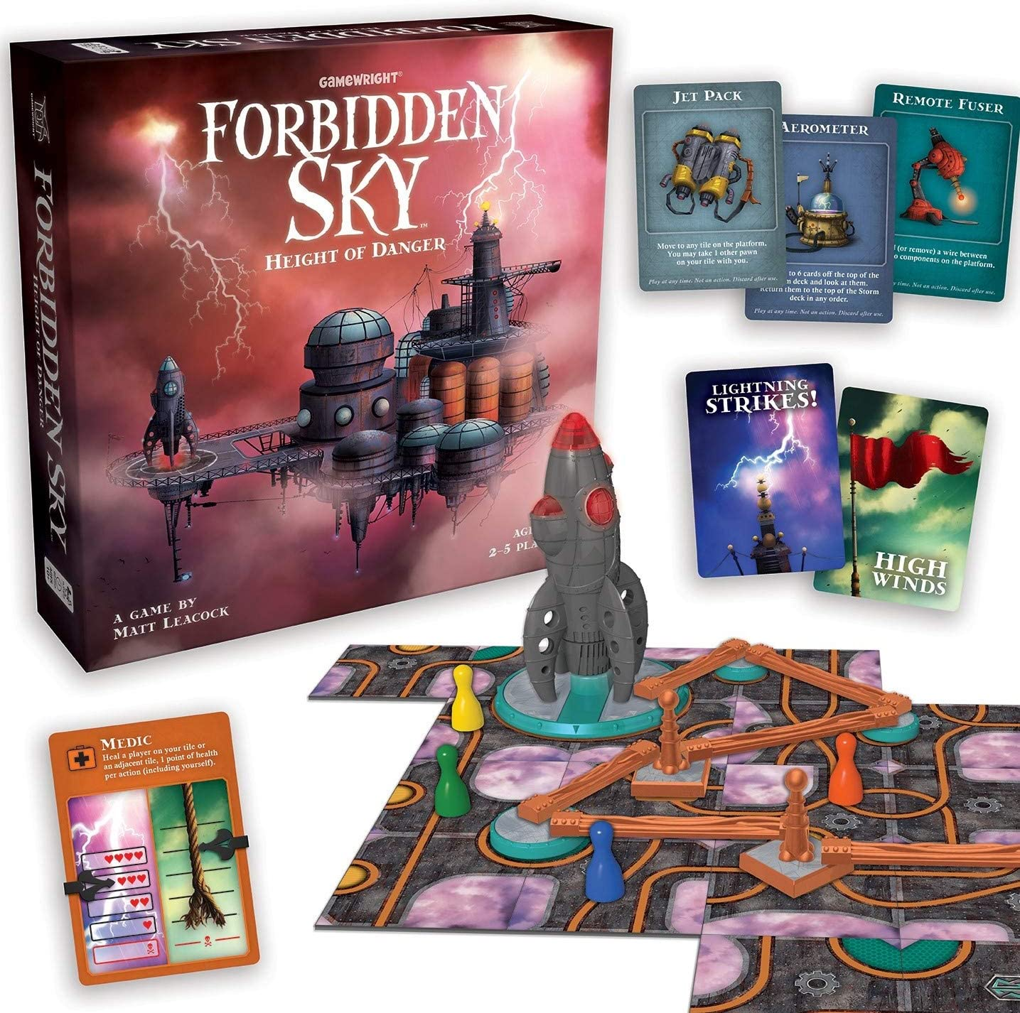 Gamewright Forbidden Sky Game, alfonbrilla para ratón: Amazon.es ...