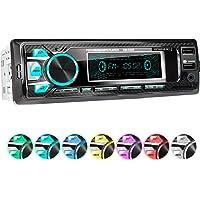 XOMAX XM-R265 Autoradio mit Bluetooth Freisprecheinrichtung I Smartphone Ladefunktion über 2. USB Anschluss I Carbon Optik I 7 LED Farben einstellbar I USB, SD, MP3, AUX I 1 DIN