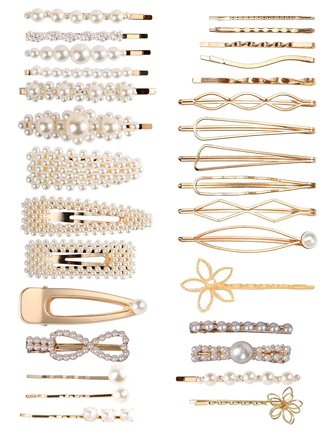 Details about  /50PCS Trinket Gifts Headwear Alloy U-shaped Hairclips Waved Hair Pins Barrette