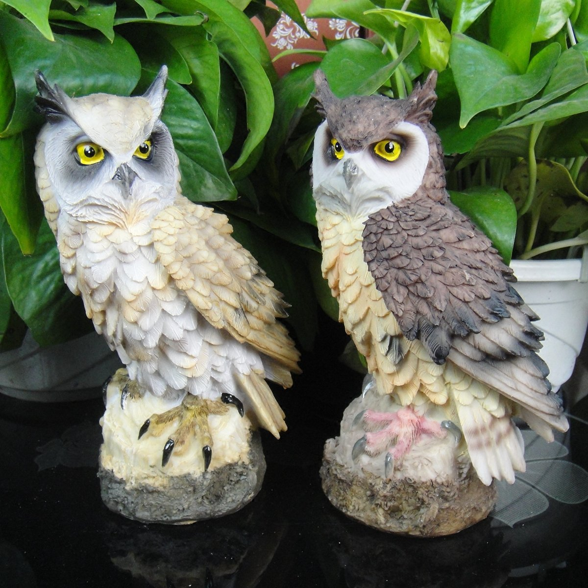 chenyu Garden Statue Figures Large Owl Resin Patio Lawn Yard Indoor Outdoor Decorations, 7.1'' Gift
